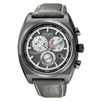 Buy Citizen Gents Calibre 8700 Grey Leather Strap Watch BL8127-02E online