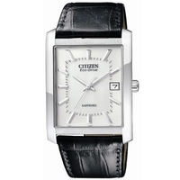 Buy Citizen Gents Eco Drive Black Leather Strap Watch BM6781-04A online