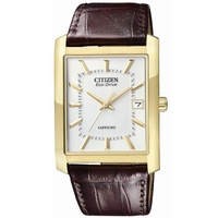 Buy Citizen Gents Eco Drive Brown Leather Strap Watch BM6782-01A online