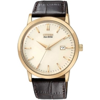 Buy Citizen Gents Eco Drive Brown Leather Strap Watch BM7193-07B online