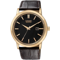 Buy Citizen Gents Eco Drive Brown Leather Strap Watch BM7193-07E online