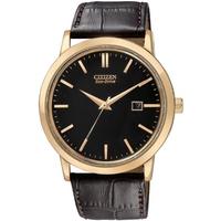 Buy Citizen Gents Eco Drive Brown Leather Strap Watch BM7193-07E online