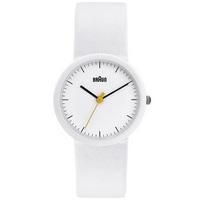 Buy Braun Ladies White Leather Strap Watch BN0021WHWHWHL online