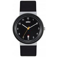 Buy Braun Gents Black Leather Strap Watch BN0032BKSLBKG online