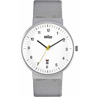 Buy Braun Gents Silver Bracelet Watch BN0032WHSLMHG online