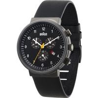 Buy Braun Gents Black Leather Chronograph Watch BN0035BKGNBKG online