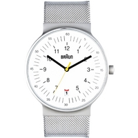 Buy Braun Gents Stainless Steel White Dial Watch BN0082WHSLMHG online