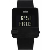 Buy Braun Gents Digital Black Rubber Strap Watch BN0106BKBKG online