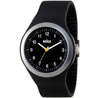 Buy Braun Gents Black Rubber Strap Watch BN0111BKBKG online
