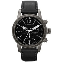Buy Burberry Gents The Utilitarian Black Chronograph Leather Strap Watch BU7813 online