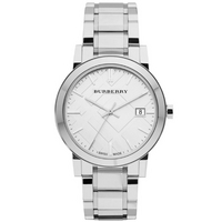 Buy Burberry Gents The City Silver Tone Steel Bracelet Watch BU9000 online