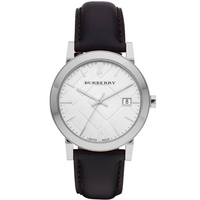 Buy Burberry Gents The City Classic Black Leather Strap Watch BU9008 online