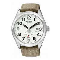 Buy Citizen Gents Green Material Strap Watch BV1080-18A online