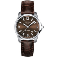 Buy Certina Gents Podium Brown Leather Strap Watch C0012101629700 online