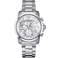 Buy Certina Ladies Podium Mother Of Pearl Chrono Watch C0012171111700 online