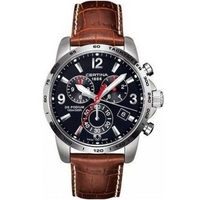 Buy Certina Gents Brown Leather Strap Chronograph Watch C0016171605700 online