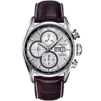 Buy Certina Gents Brown Leather Strap Automatic Chronograph Watch C0064141603100 online