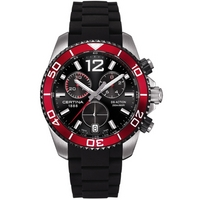 Buy Certina Gents Black Rubber Chronograph Watch C0134172705700 online