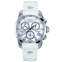 Buy Certina Gents Mother Of Pearl White Rubber Chrono Watch C0164171711700 online