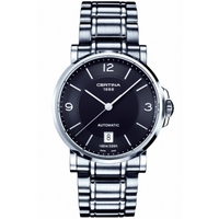 Buy Certina Gents Silver Tone Bracelet Black Dial Watch C0174071105700 online