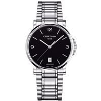 Buy Certina Gents Silver Tone Bracelet Black Dial Watch C0174101105700 online