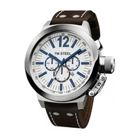 Buy T W Steel Gents CEO 45mm Chronograph Strap Watch CE1007 online