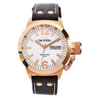 Buy T W Steel Ceo Gents Black Leather Strap Watch CE1017 online