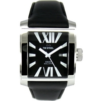 Buy T W Steel Gents Goliath 37mm Leather Strap Watch CE3005 online