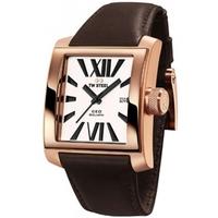 Buy T W Steel Gents 37mm Goliath Brown Leather Strap Watch CE3007 online