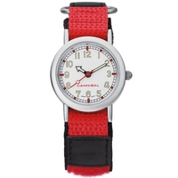 Buy Cannibal Kids Unisex Red Material Strap Watch CK002-06 online