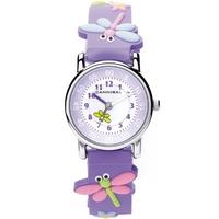 Buy Cannibal Kids Girls Purple Rubber Strap Watch CK198-16 online