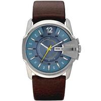 Buy Diesel Gents Master Chief Brown Leather Strap Watch DZ1399 online