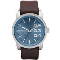 Buy Diesel Gents Franchise Brown Leather Strap Watch DZ1512 online