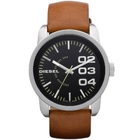 Buy Diesel Gents Franchise Brown Leather Strap Watch DZ1513 online