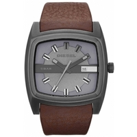 Buy Diesel Gents Mr Red Brown Leather Strap Watch DZ1553 online
