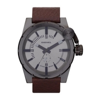 Buy Diesel Gents Bad Company Brown Leather Strap Watch DZ4238 online