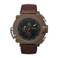 Buy Diesel Gents Super Bad Ass Brown Leather Strap Watch DZ4245 online