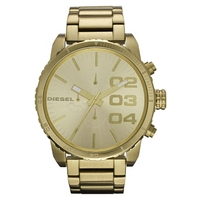 Buy Diesel Gents Franchise Gold Tone Steel Chronograph Watch DZ4268 online