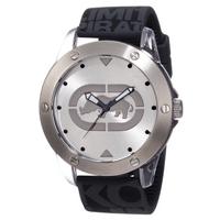 Buy Marc Ecko Mens Black Rubber Strap Silver Tone Dial Watch E09520G7 online