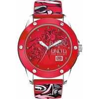 Buy Marc Ecko Gents Red Rubber Patterned Strap Watch E09530G3 online