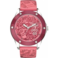 Buy Marc Ecko Ladies Pink Rubber Patterned Strap Watch E09530G5 online