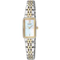 Buy Citizen Ladies Silhouette 2 Tone Steel Bracelet Watch EG2824-55D online