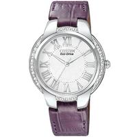 Buy Citizen Ladies Ciena Purple Leather Strap Watch EM0090-06A online