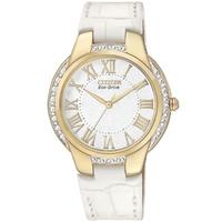 Buy Citizen Ladies Ciena White Leather Strap Watch EM0092-01A online