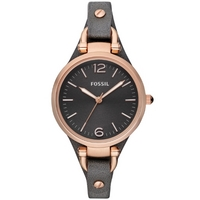 Buy Fossil Ladies Georgia Grey Leather Strap Watch ES3077 online