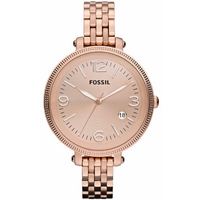 Buy Fossil Ladies Rose Gold Tone Bracelet Watch ES3130 online