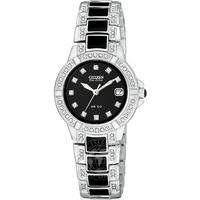 Buy Citizen Ladies Sawrovski Crystal Set Enamel Bracelet Watch EW0950-82E online