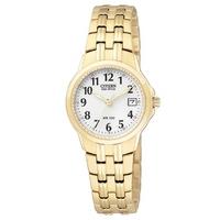 Buy Citizen Ladies Eco-drive Gold Tone Watch EW1542-59A online