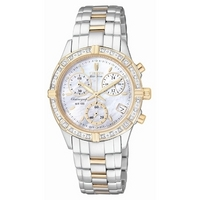 Buy Citizen Ladies Two Tone Diamond Chronograph Watch online