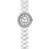 Buy Flik Flak Girls Sola Porpora White Rubber Strap Watch FCN023 online